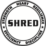 SHRED hat logo